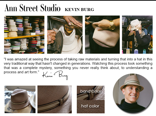 Kevin Burg @annstreetstudio - designed hids own hat at our factory!  http://kck.st/18hlBLG