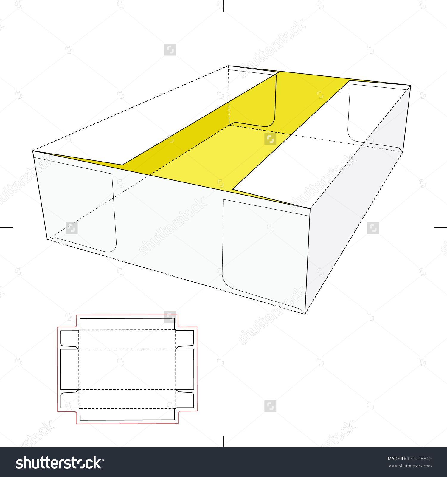 Tray Box With Blueprint Layout Stock Vector Illustration 170425649 ...