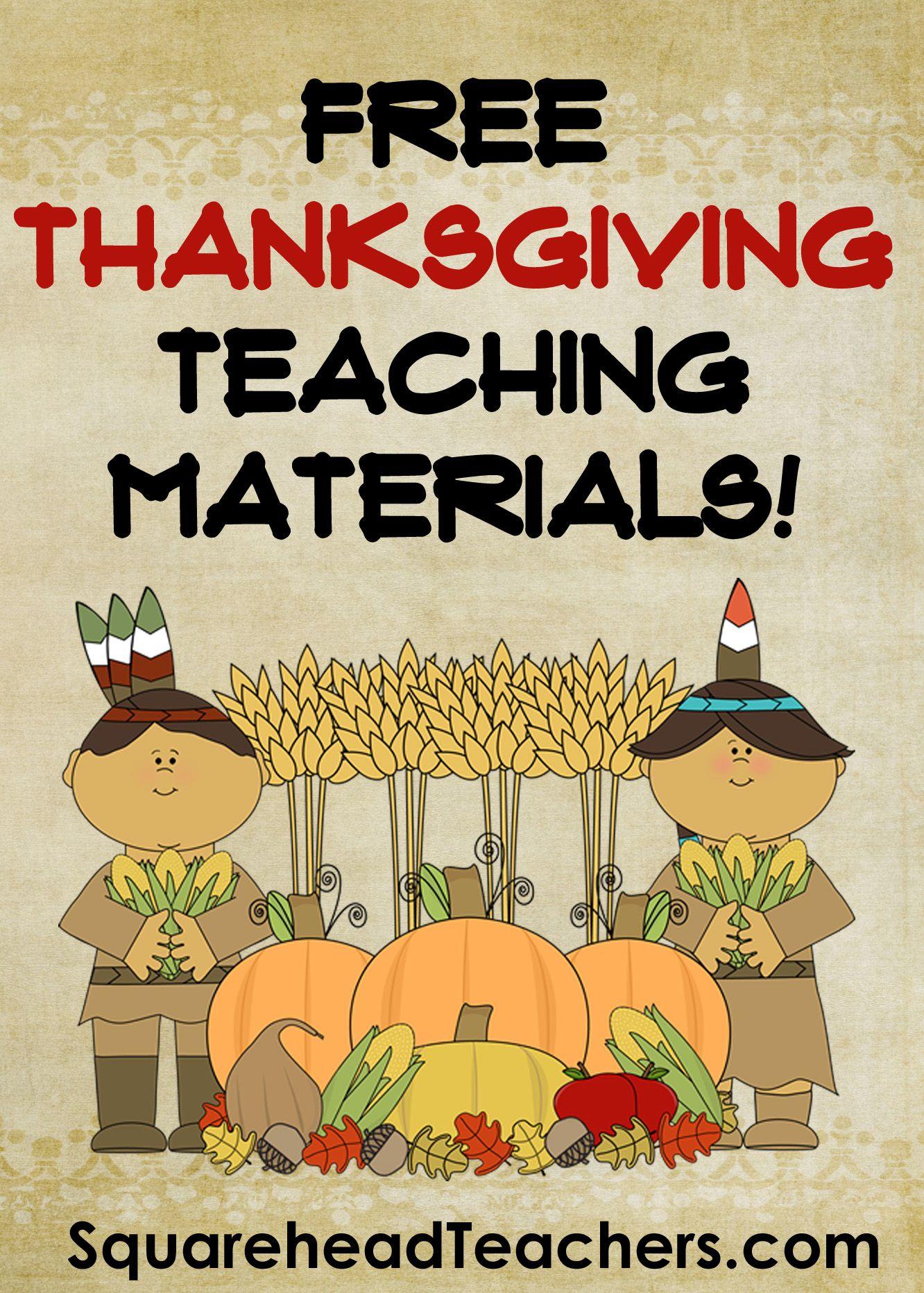 Squarehead Teachers Free Thanksgiving Printable