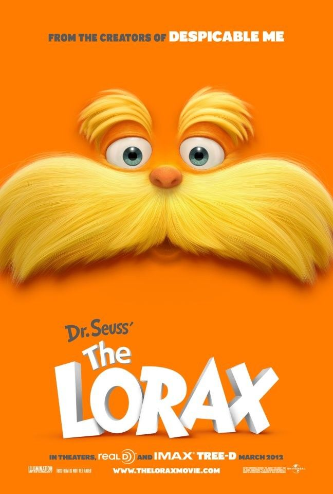 Dr Seuss The Lorax Cool Movie Poster Design D Kid Movies