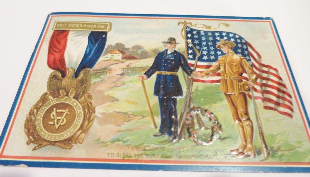 Vintage TUCK Postcard Decoration Day 1910 Civil WarVeteran Medal ...