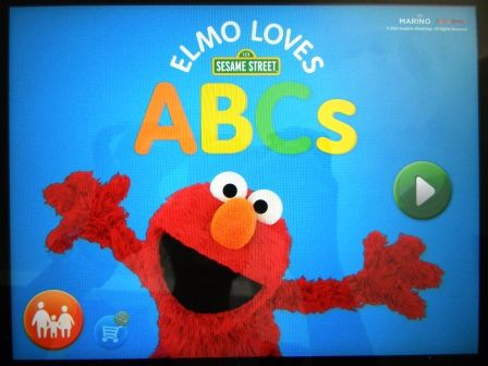 teaching my toddler the ABC with Elmo ) Kids app