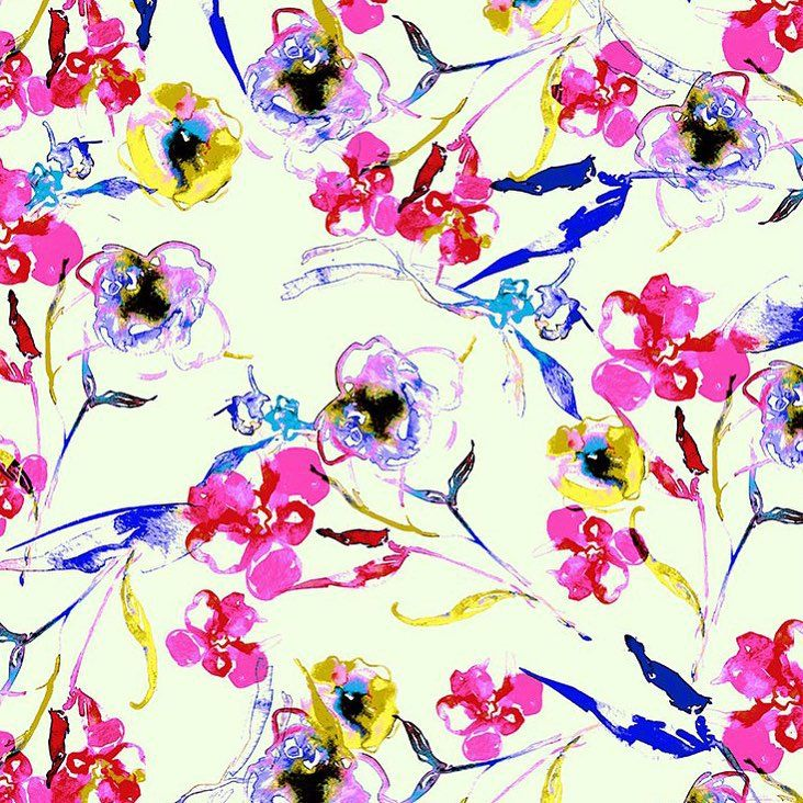 collection.aarynwest.com  #aarynwest #dspattern #watercolor #floralprint #contemporaryprint #anthropologie #stylizedfloral