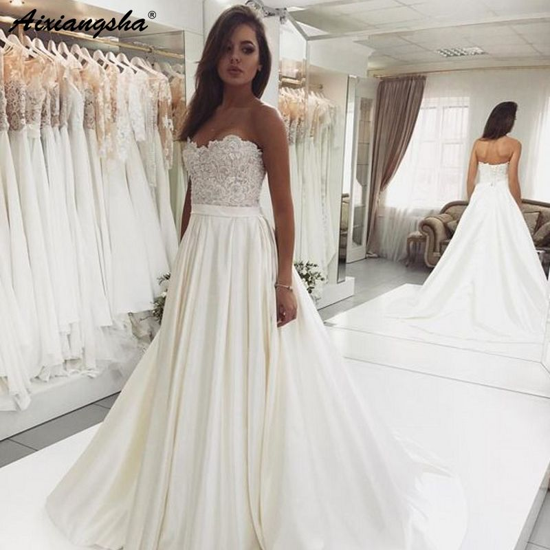 Sweetheart Backless Lace Top Wedding Backless Lace Wedding Dress Wedding Dresses Sweetheart Wedding Dress