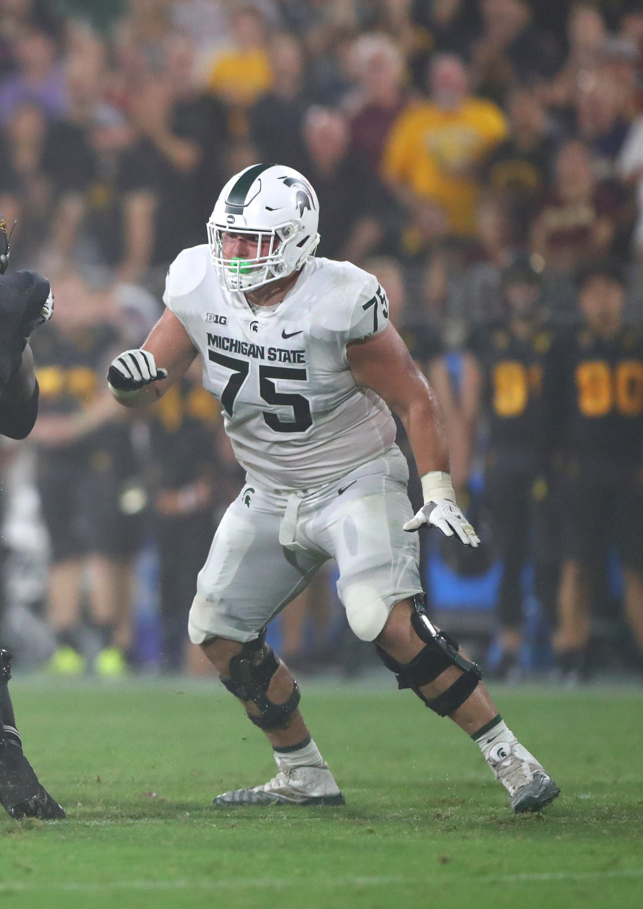 Michigan State Football Loses Its Third Left Tackle This Season Run Game Suffers Michigan State Football Michigan State Spartans Football Michigan State