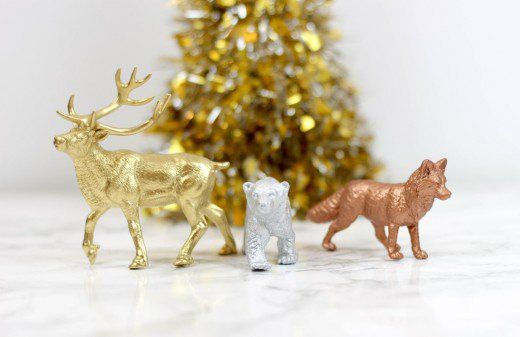 These shiny Christmas ornaments only look expensive.