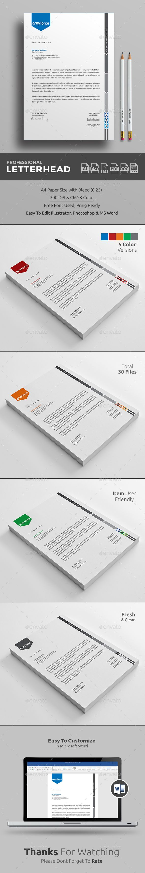 Buy Letterhead By Upra On GraphicRiver Corporate Template With Super Modern And Look Page Designs Are Very Easy