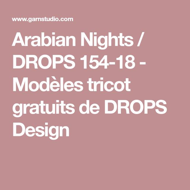 Arabian Nights / DROPS 154-18 - Modèles tricot gratuits de DROPS Design