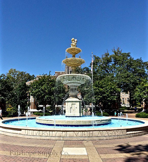 Fountain At The University Of North Alabama In Florence Alabama