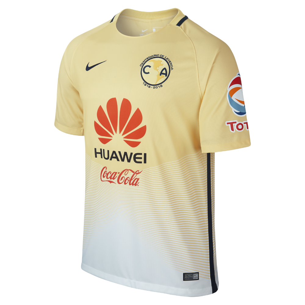 Nike 2016 17 Club America Stadium Home Men s Soccer Jersey Size Small  (Yellow) - Clearance Sale 576b6bc36