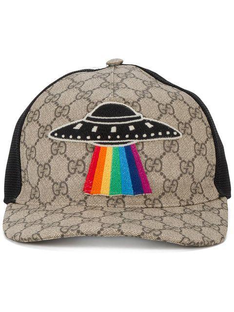 fb53801516f GUCCI GG Supreme UFO applique cap.  gucci  cap