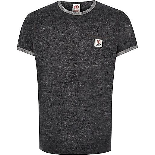 Dark grey Franklin & Marshall ringer t-shirt - plain t-shirts - t-shirts / vests - men