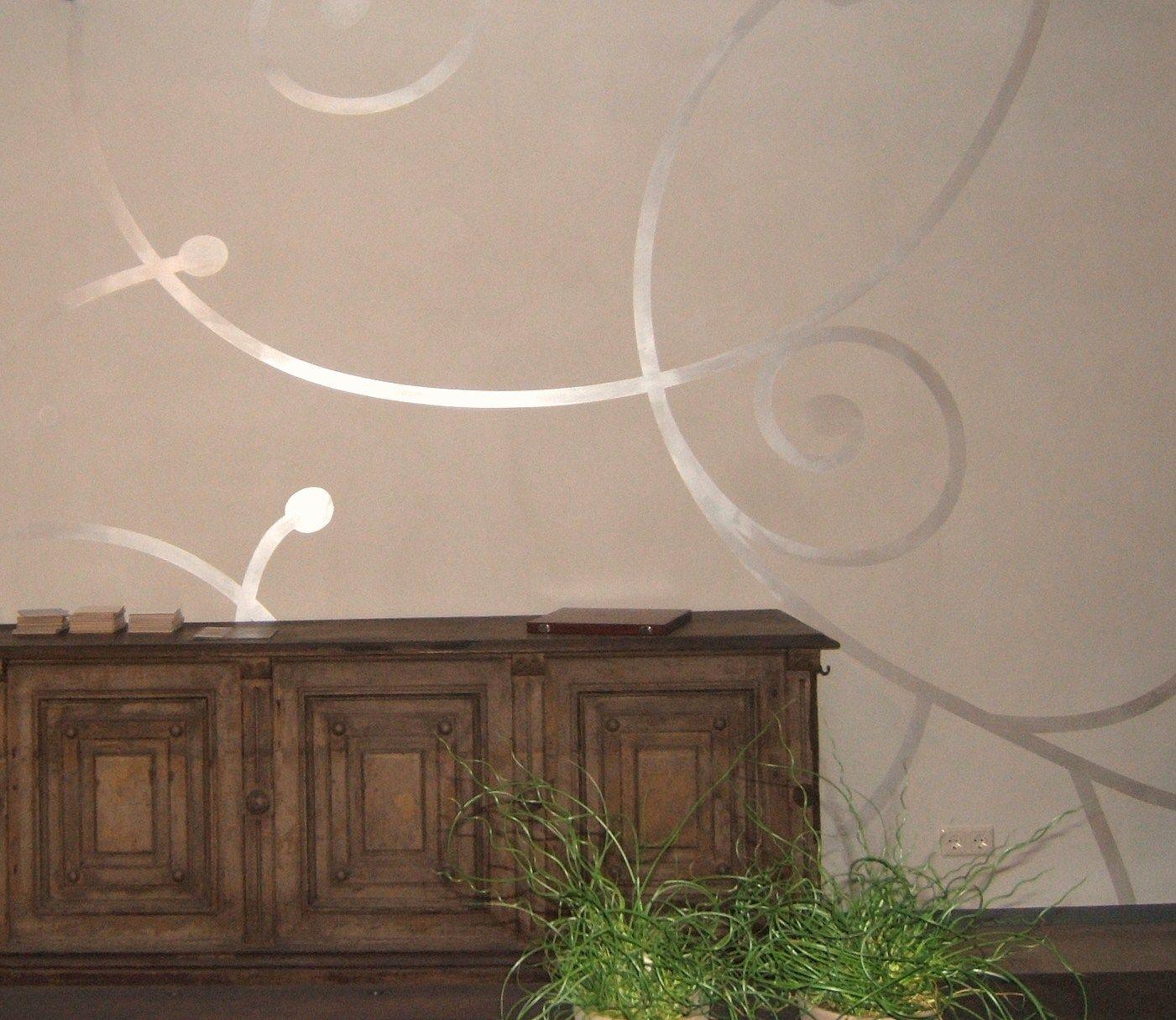 Schon Wandgestaltung In Putz Und Schablone