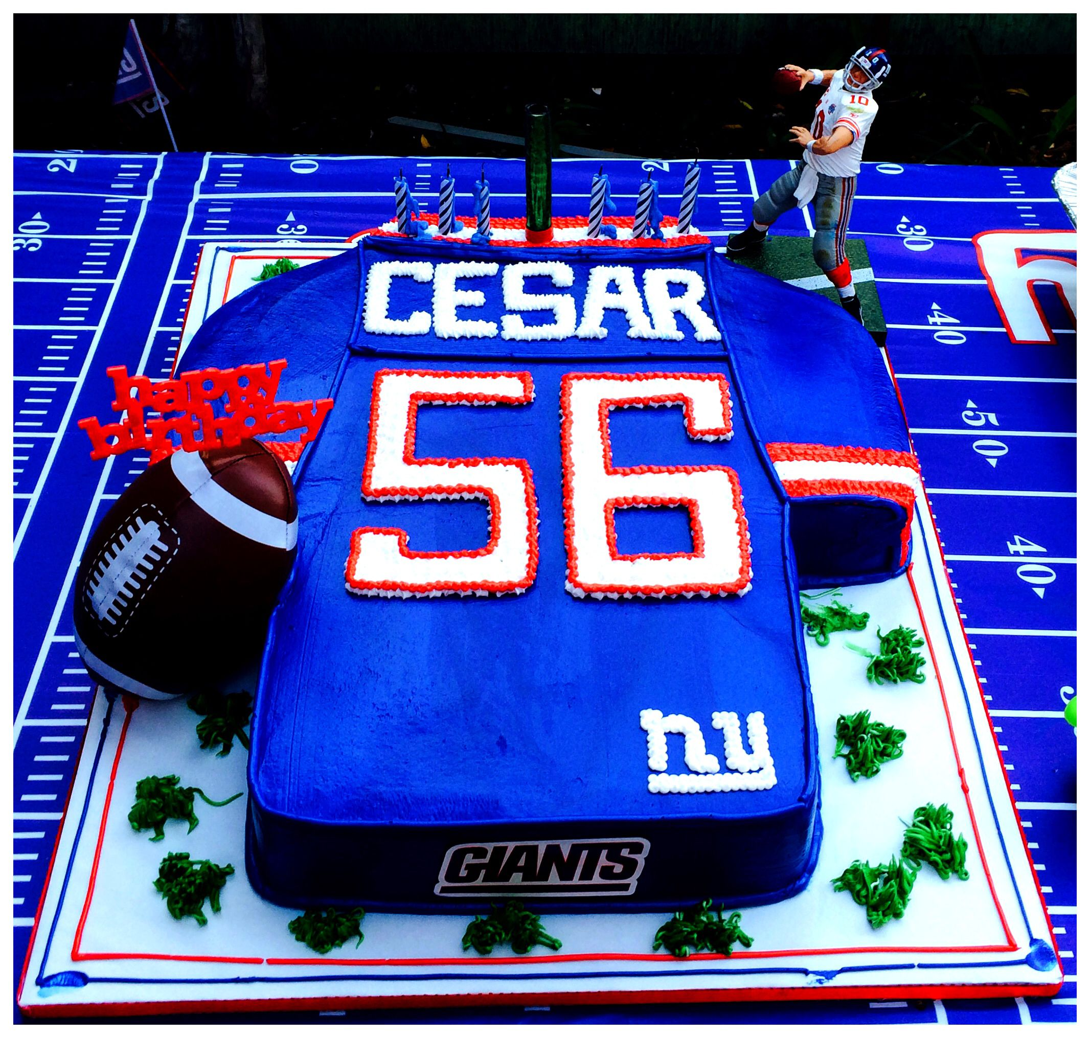 New York Giants Cake (Tres Leches) The Best!' ;)