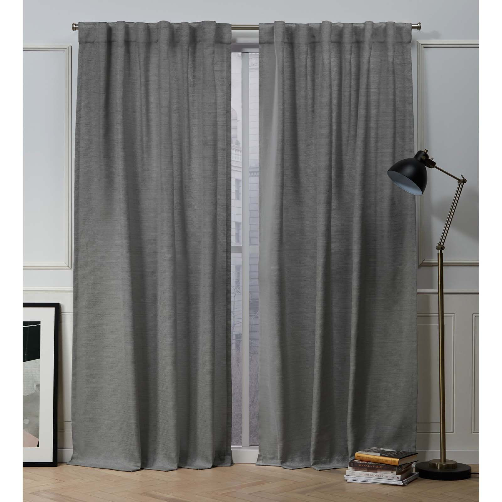 Nicole Miller New York Mellow Slub Textured Hidden Tab Top Curtain