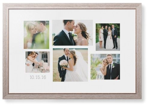 Gallery Collage of Six Framed Print, Rustic, Modern, White, White, Single piece, 20 x 30 inches