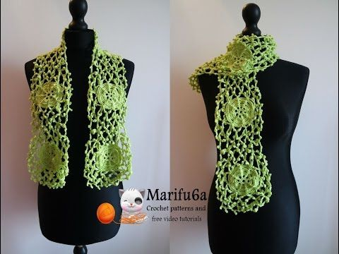 How to crochet irish style rose scarf free tutorial pattern by ...