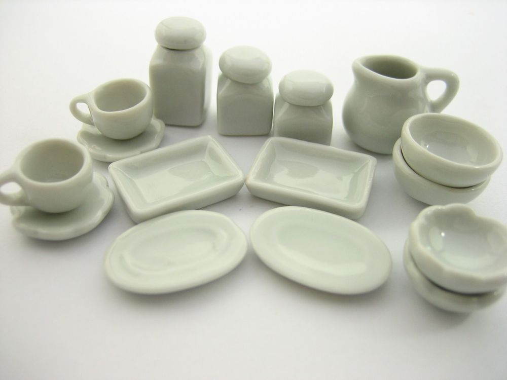 100 White Ceramic Coffee Mug Dollhouse Miniatures Supply Deco Kitchenware