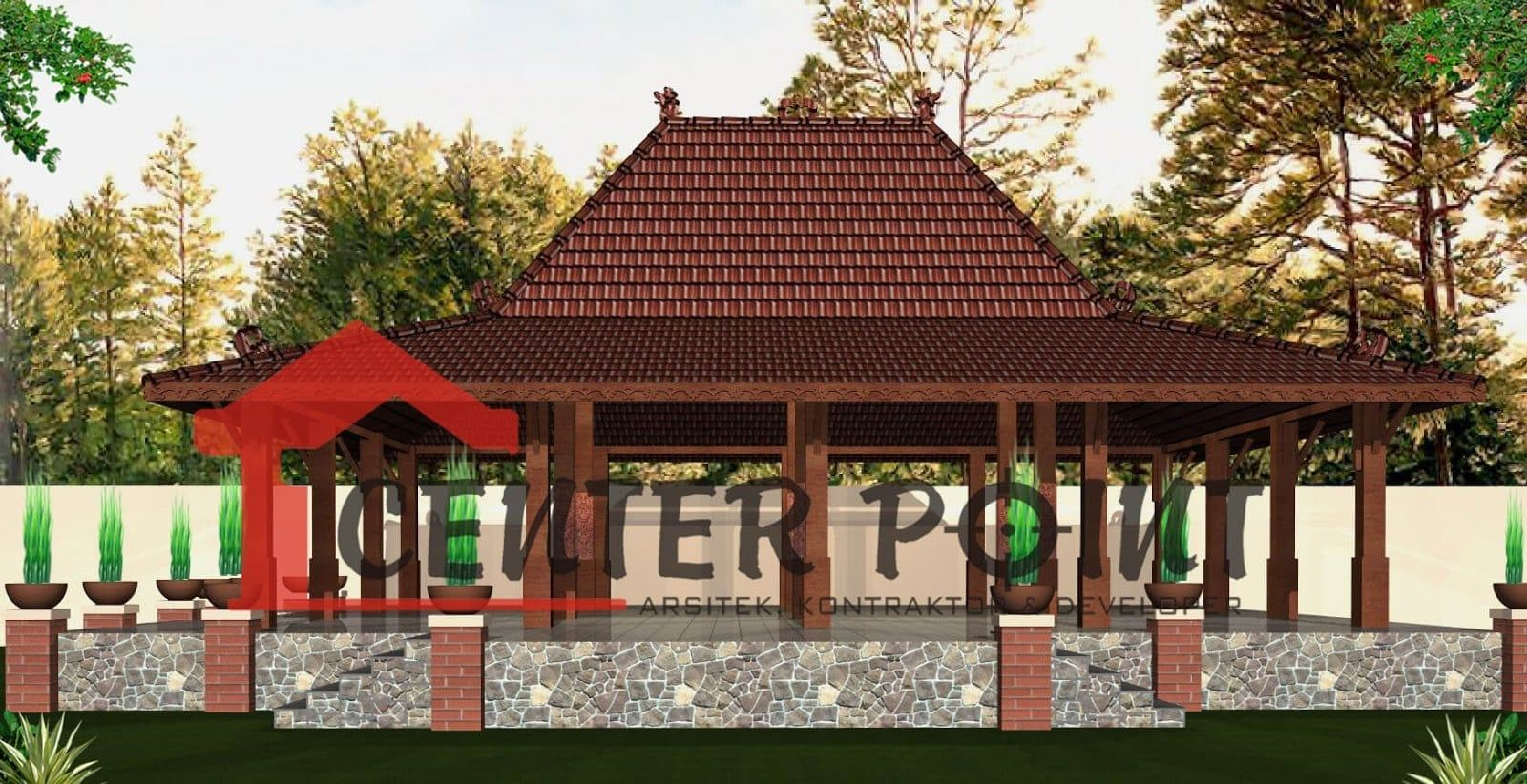 21 Gambar Rumah Joglo Pangrawit Arsitek Desain Rumah Desain Arsitektur
