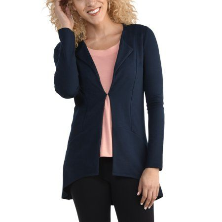 63d34b68 Seek No Further by Fruit of the Loom Women's Cardigan, Available in Sizes  up to 2XL, Size: Large, Blue