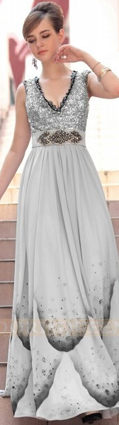 Semi formal hot sale fashion long grey strapless Evening dresses,mother of the bride 30617