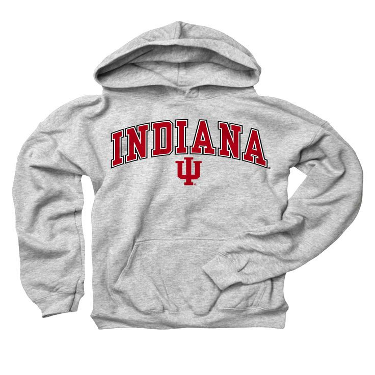 Indiana Hoosiers Youth Gray Perennial II Hooded Sweatshirt - $23.99