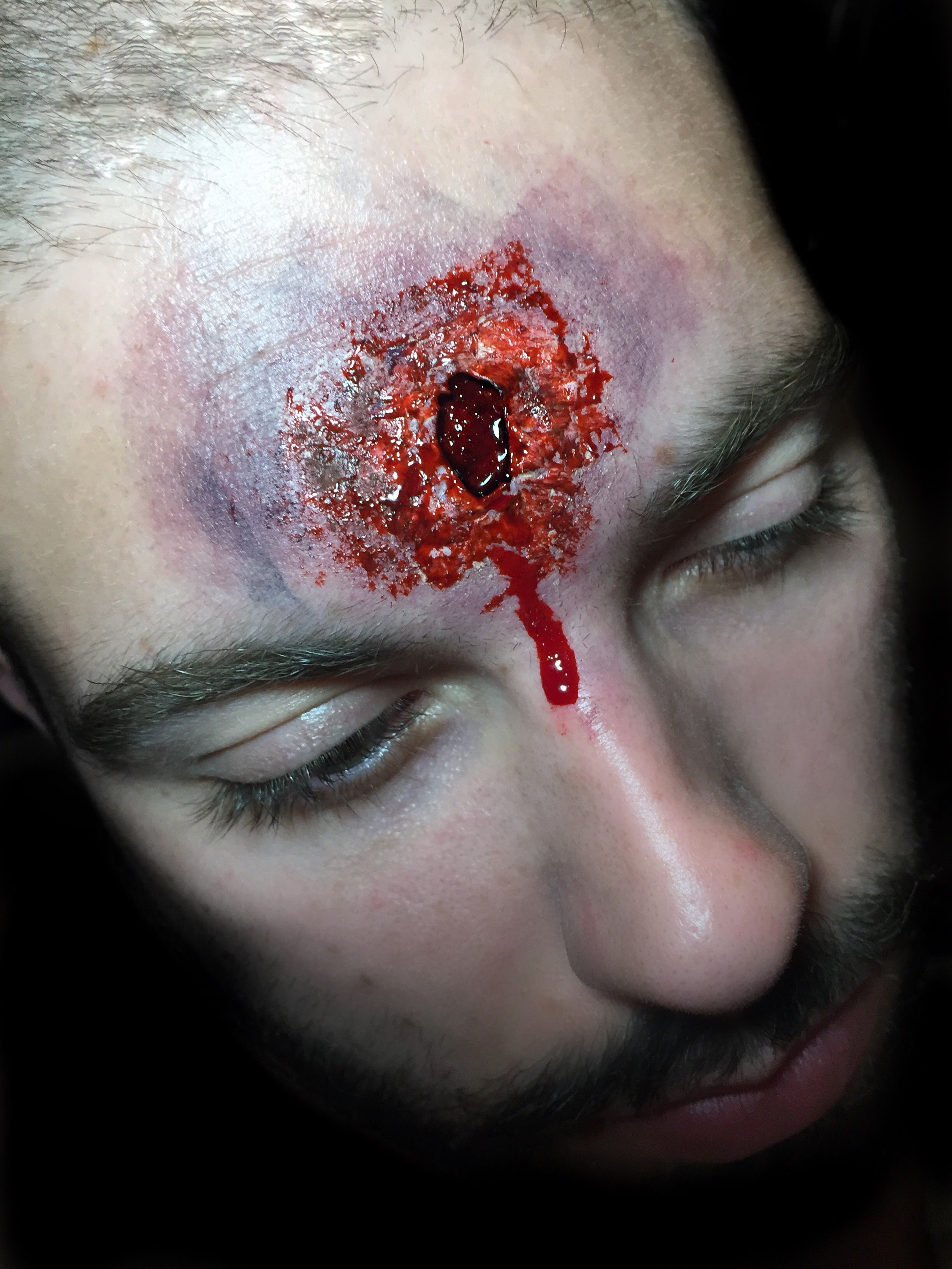 Easy bullet hole sfx/Halloween makeup Makeup, Best