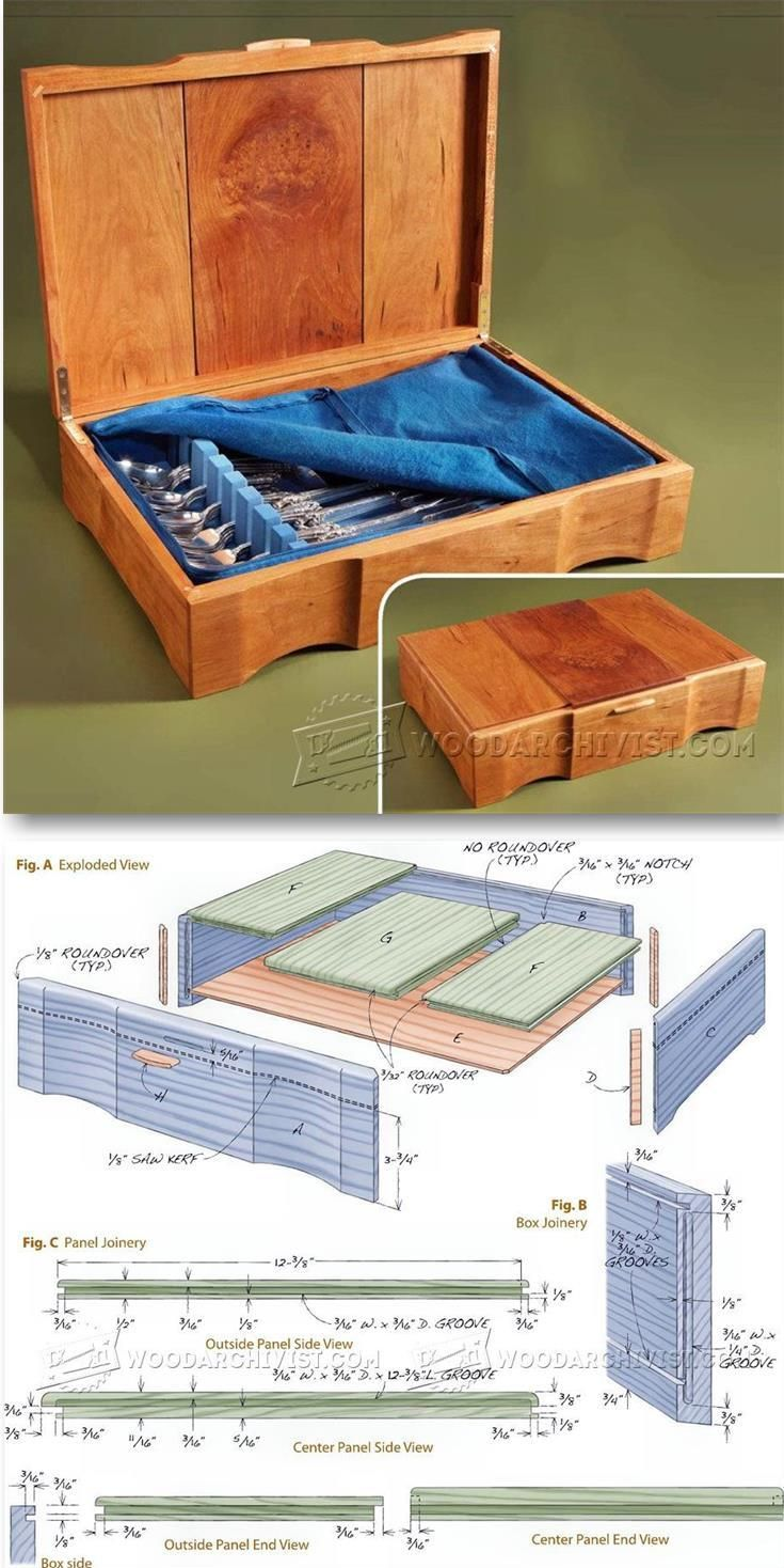 silverware chest plans - woodworking plans and projects