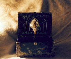 Antique Ballerina Music Box Vintage music box ballerina album