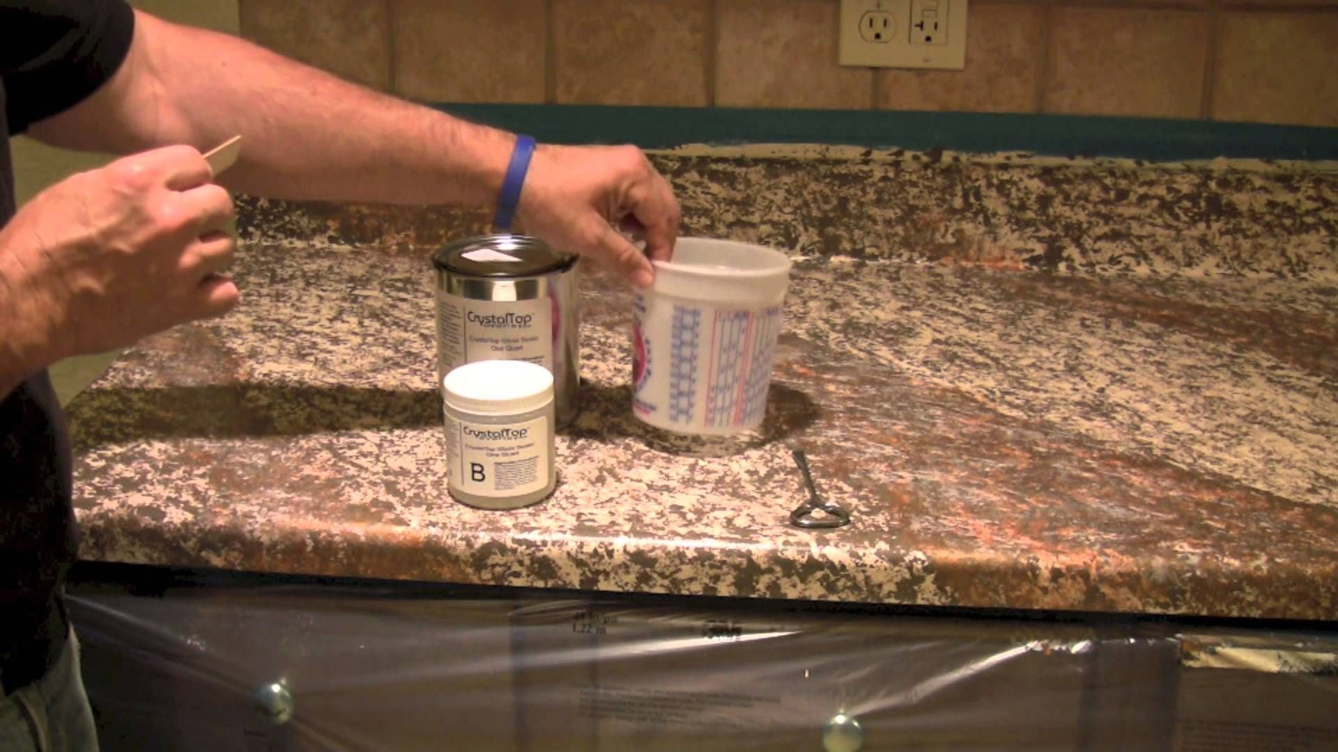 Step 3 Sealing Your Painted Countertop Painting