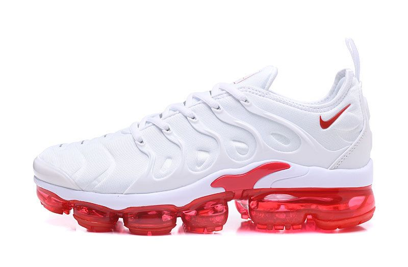 low priced f15e1 476a2 Officiel 2018 TN Air VaporMax Plus Chaussures de Basket Pour Homme  Blanc Rouge Pas Cher 924453-102