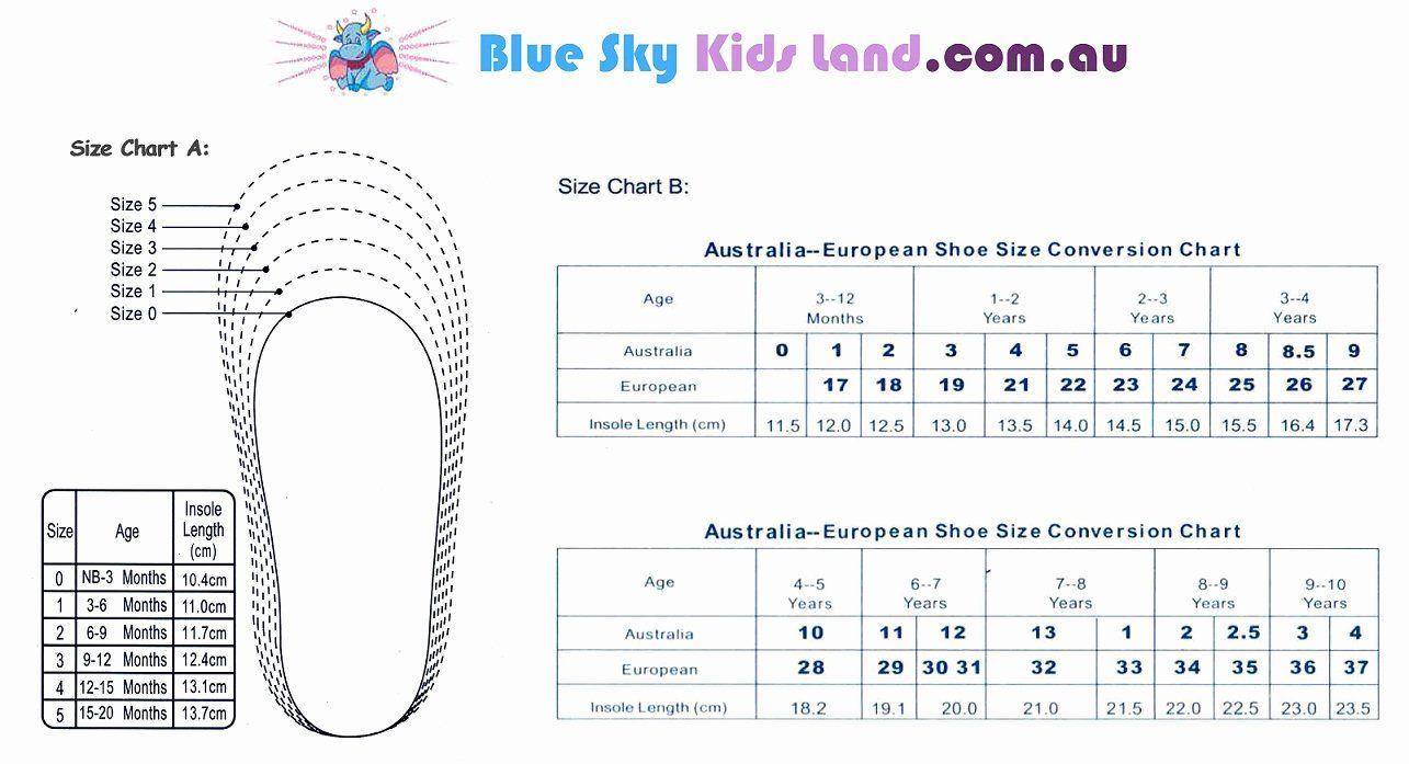 Newborn Shoes Size Chart Beautiful