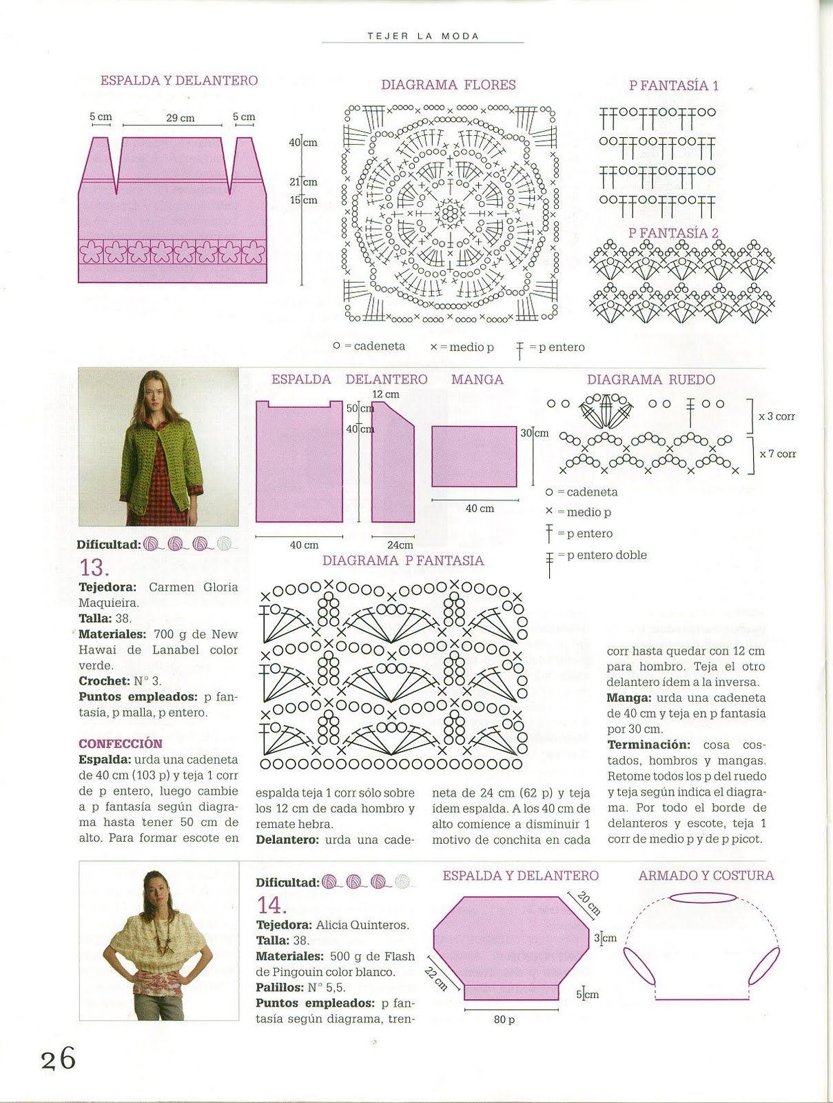Patrones Crochet: Chaleco Verde Esperanza de Crochet | Hazlo tú ...