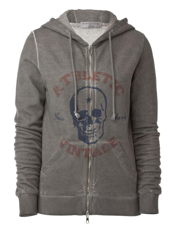"""Athletic Vintage Hoodie """"Skull"""""""