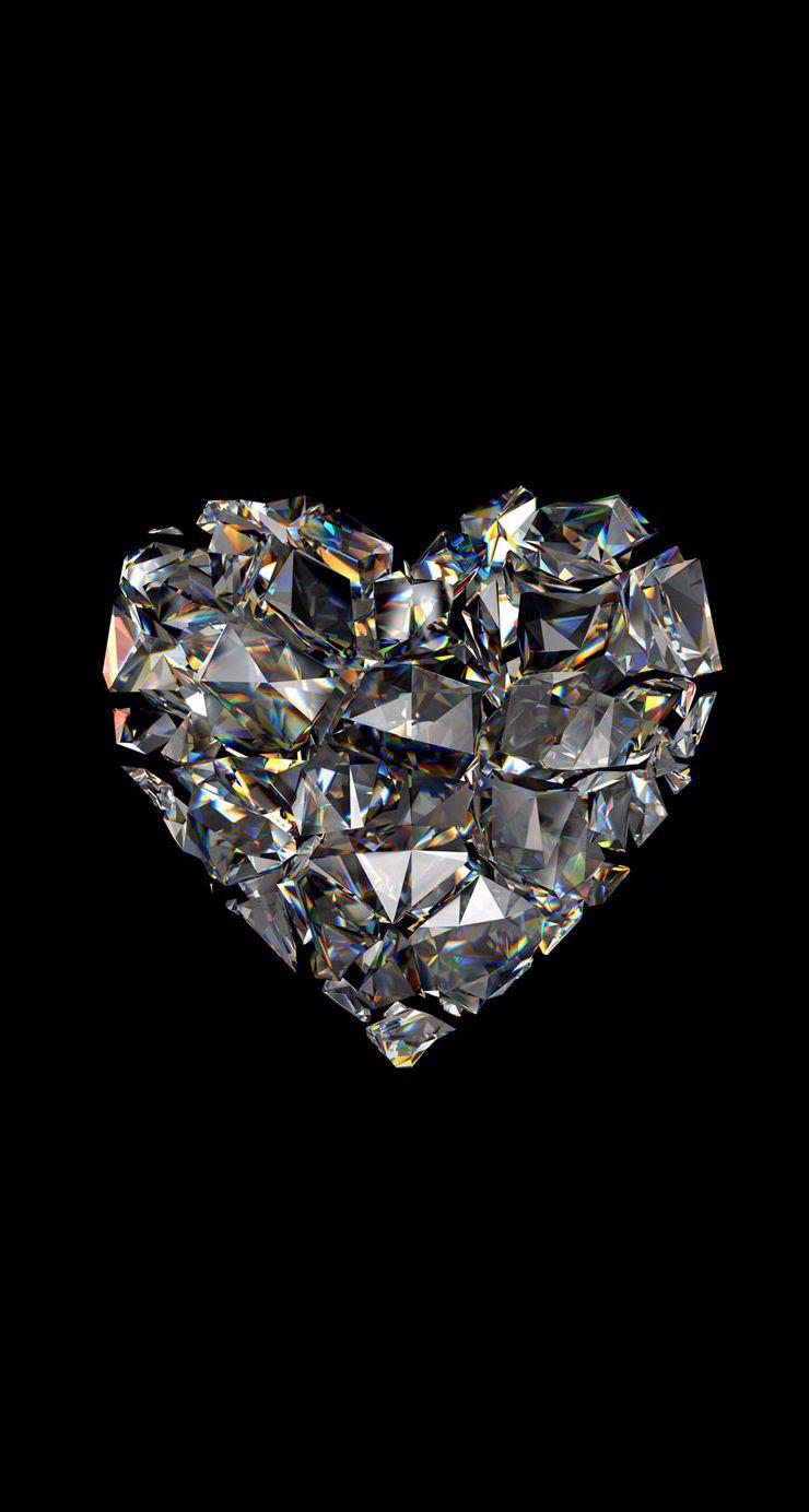 Diamond heart Backgrounds Pinterest Diamond heart