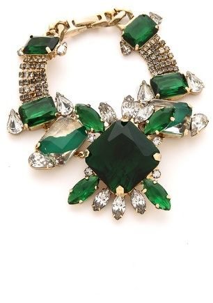 Noir Jewelry Gem Bracelet  #emerald