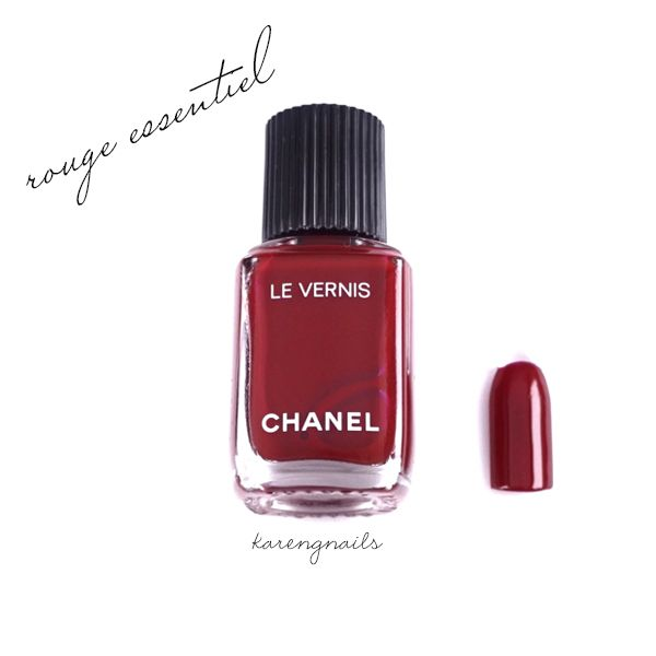 Chanel Le Vernis Rouge Essential Swatch Karen G Nails   Nail Polish ...