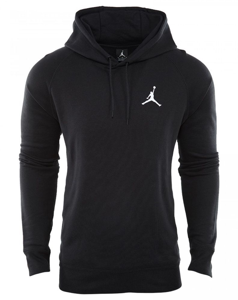 77e611e4c0b9 Nike Jordan Flight Pullover Hoodie Mens 809453-010 Black Fleece Hoody Sz.  XL
