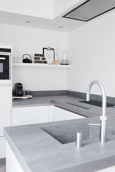 10x de mooiste keukens met beton | Küche, Küchen inspiration und ...