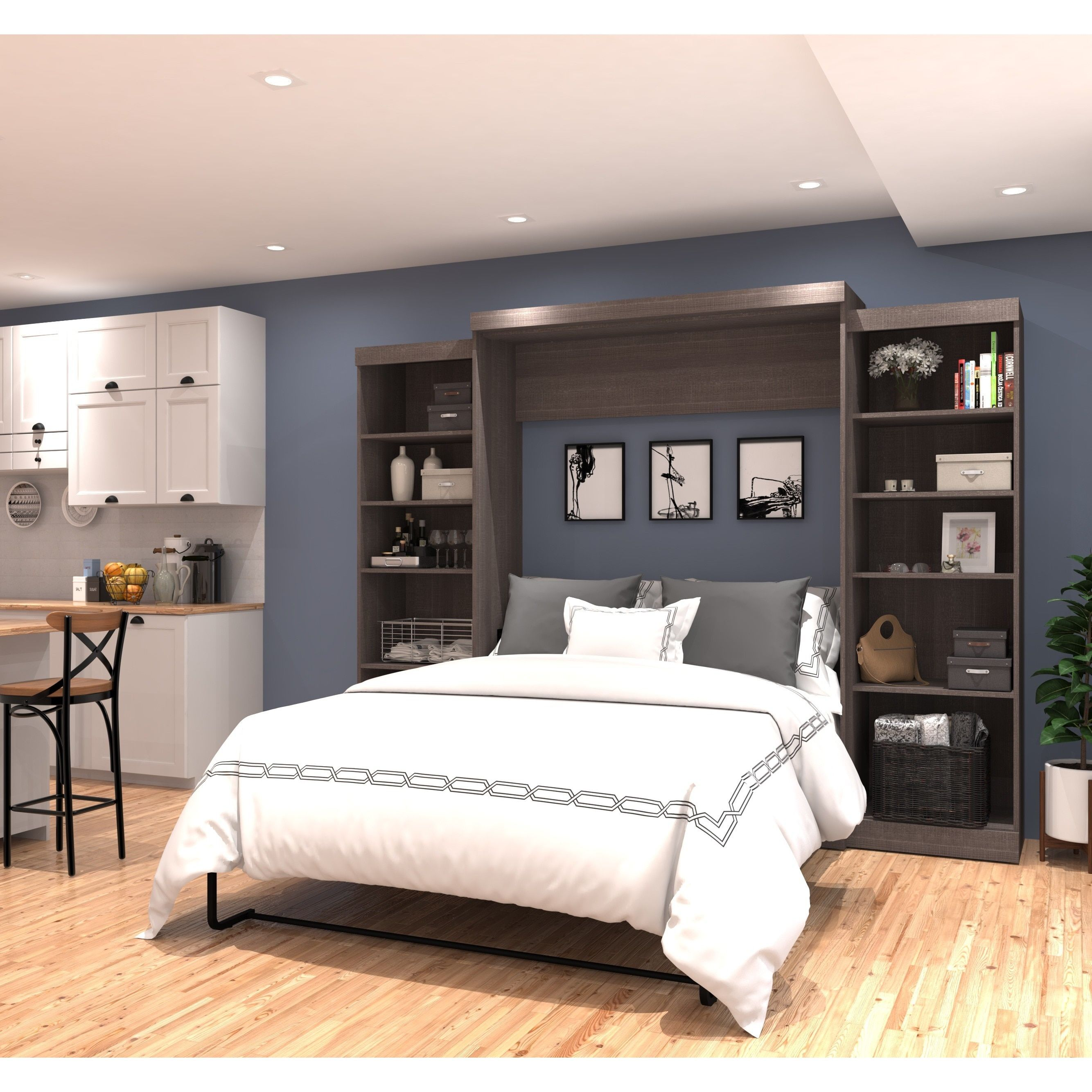 """Pur by Bestar 115"""" Queen Wall bed kit in 2019 Murphy bed"""