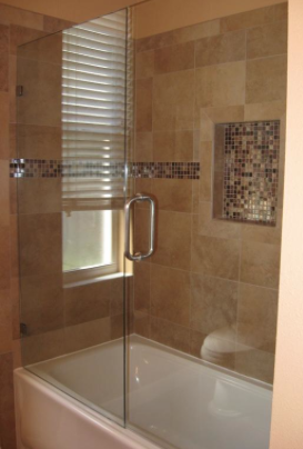 Frameless With Door And Panel On The Bathtub Shower Doors Tub