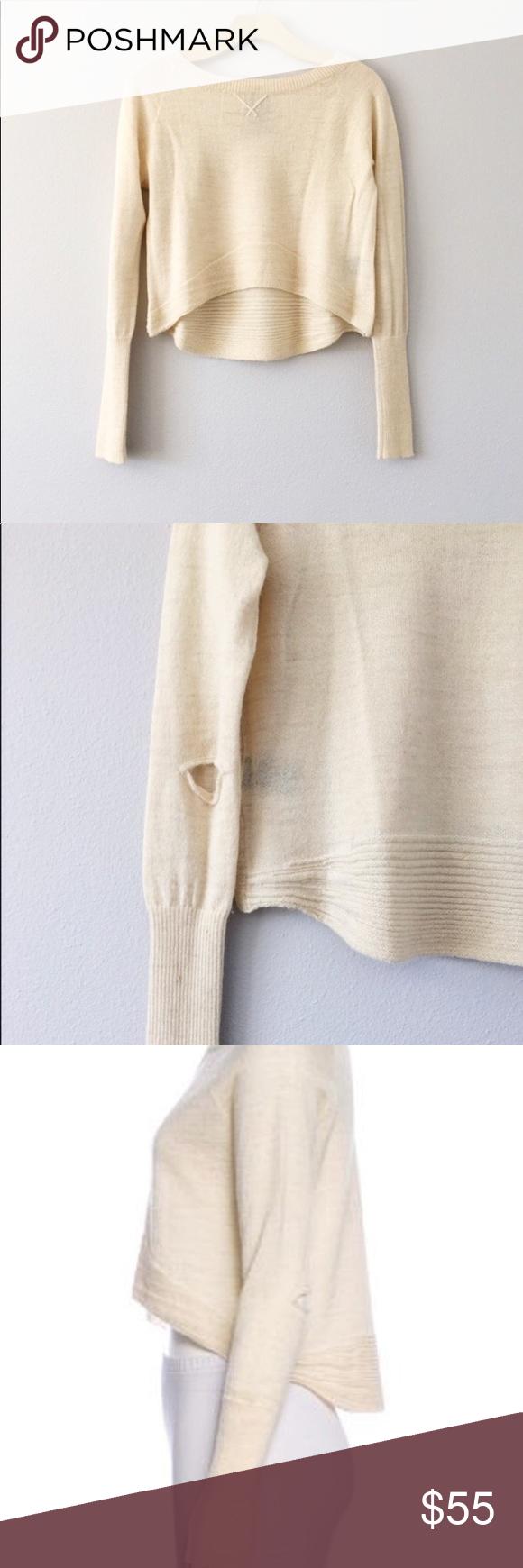 bc12e7d5c Dolce Vita Baby Alpaca Cream Cropped Sweater. SS1
