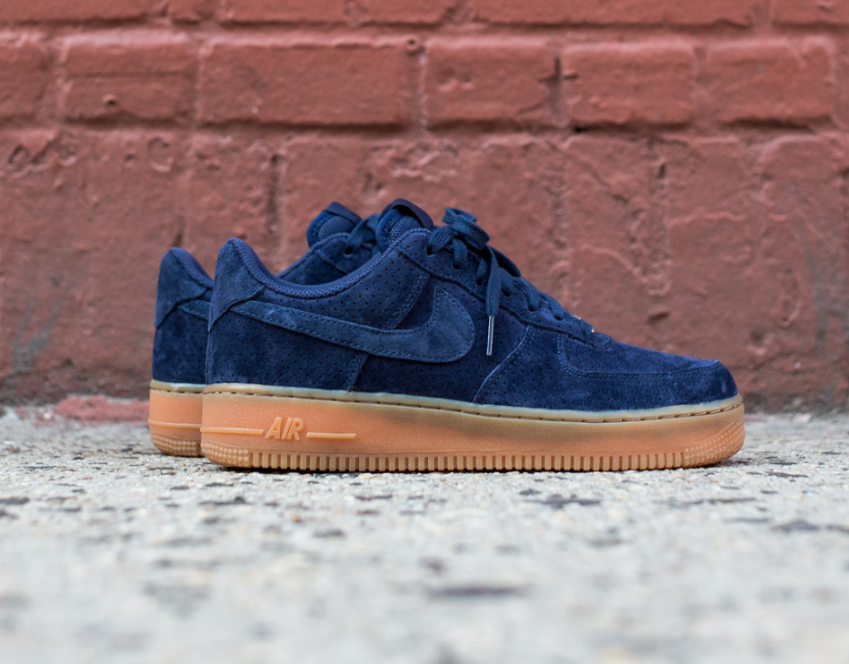 newest a114a 51504 The iconic Nike Air Force 1 Low is rendered in a suede build. Shaded in  hues of navygum, find it now from Nike retailers nationwide.