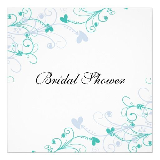 Elegant Wedding Bridal Shower Invitations