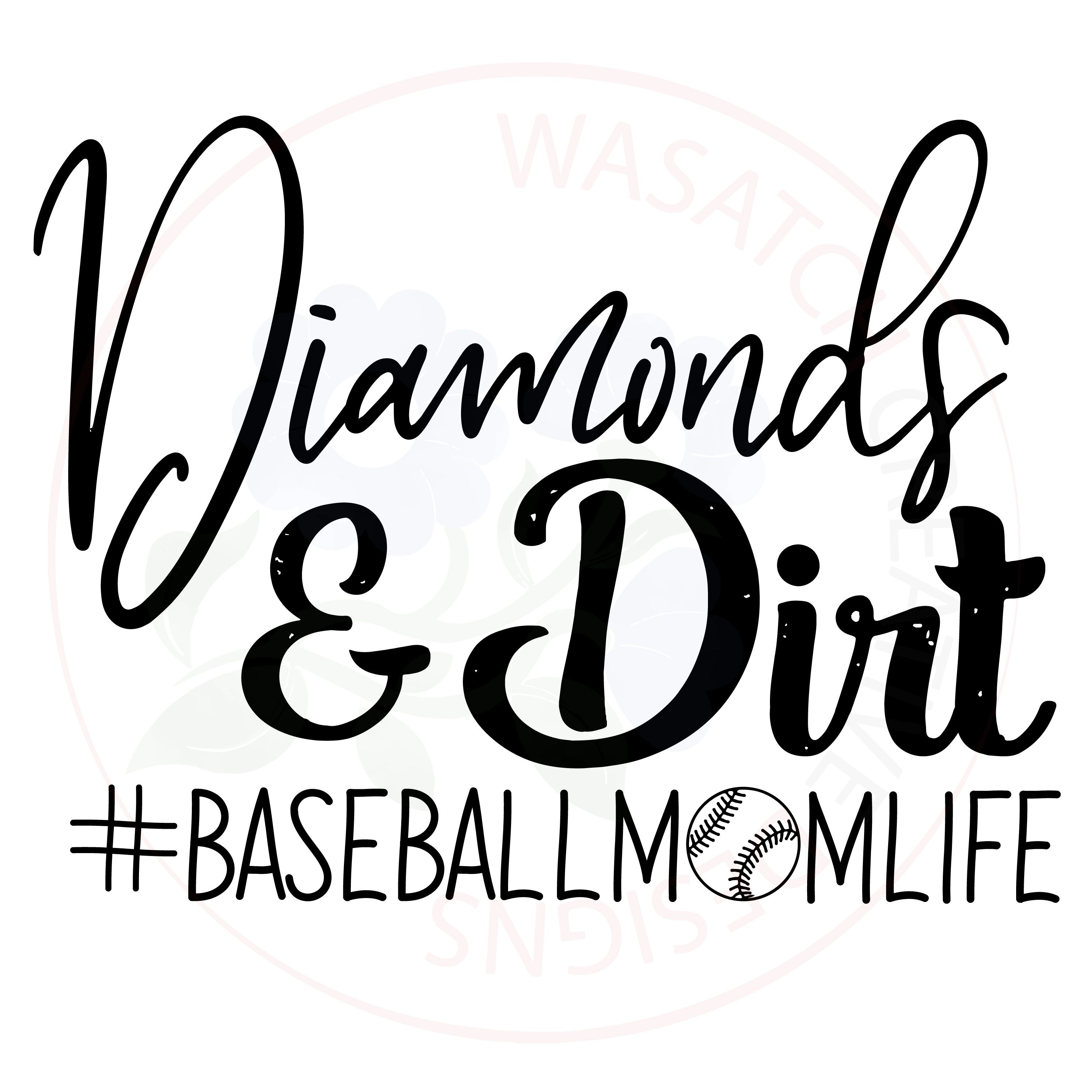 Baseball mom SVG, EPS, DXF, JPG, and PDF for cutting