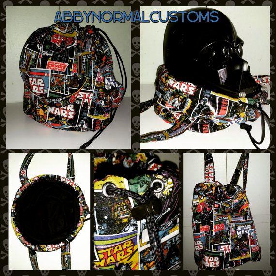 Custom star wars helmet bag! https://www.etsy.com/listing/221539565/star-wars-custom-bucket-bags