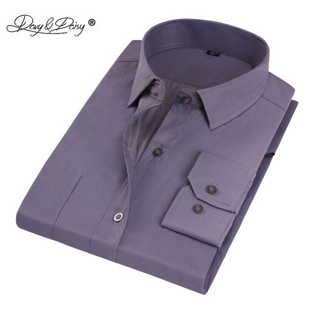 Davydaisy Man Work Shirts High Quality Long Sleeve Simple
