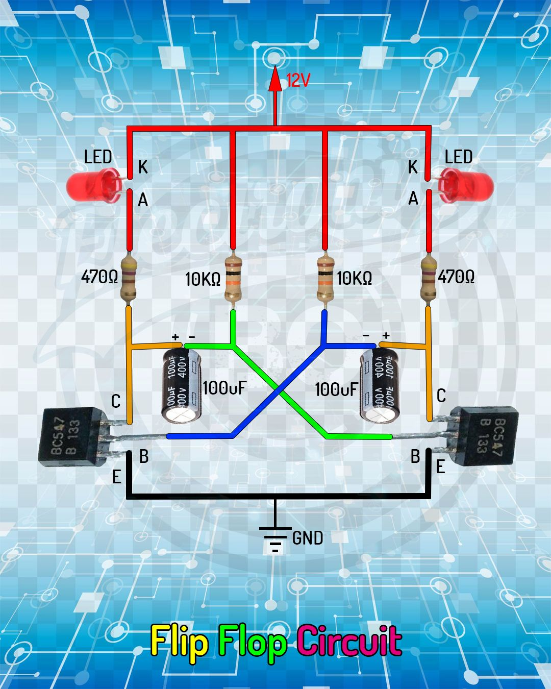 hight resolution of flip flop circuit