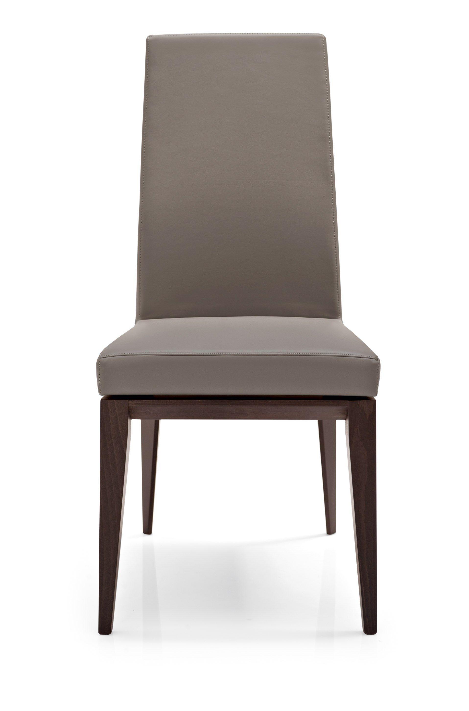 gepolsterter stuhl aus holz mit hoher r ckenlehne bess by calligaris design s t c st hle. Black Bedroom Furniture Sets. Home Design Ideas