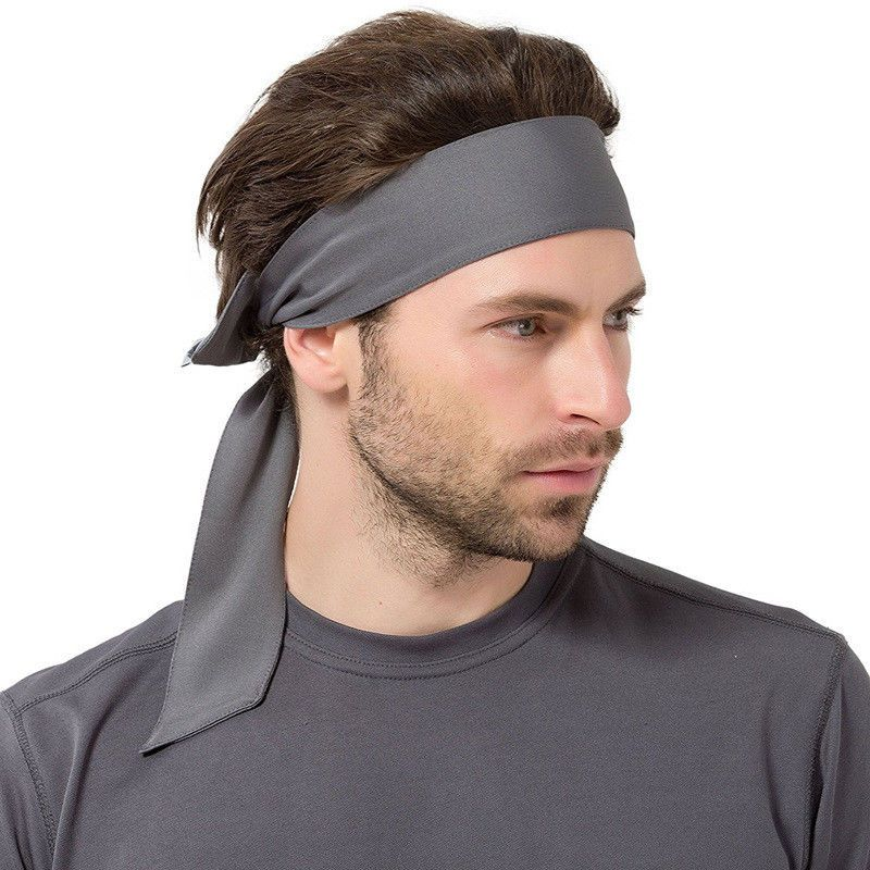 Colorful Soft Sports Head Tie Headband Sweatband for Running Gym Sports NEW